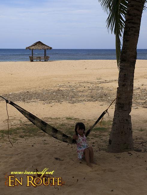 Puraran Beach Girl and hammock