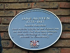 Photo of Jane Austen blue plaque