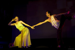 Summer night (-clicking-) Tags: lighting light portrait dance dancing theatre vietnam 2470mm canoneos50d ma namcao thn chipho