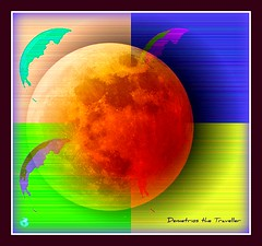 harvest moon (Demetrios Georgalas aka brexians) Tags: blue orange moon white green weather season colours seasonal brokenglass harvest illumination manipulation luna fullmoon astrophotography various dimension cosmos aspera indiansummer