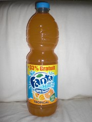 Fanta Still Sans Bulles Tropical (Like_the_Grand_Canyon) Tags: france french bottle soft drink beverage pop soda 2009 fizzy