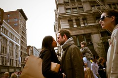 Lovers in Soho (bhongpds) Tags: new york nyc boy ny newyork guy love girl female kiss soho kisses lovers esq flikraward