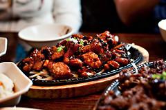 Min Sok Chon Dwaeji Galbi Gui (disneymike) Tags: california food dinner restaurant nikon sandiego korean nikkor speedlight d3 minsokchon 50mmf14g sb900