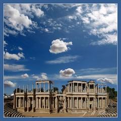 Roman Theatre Mrida - Spain - PA144235TTs (jm_villarroya (w/o internet until Dec 25)) Tags: spain nwn mywinners specialtouch diamondclassphotographer flickrdiamond anticando jmvillarroya thesuperbmasterpiece toisndeoro