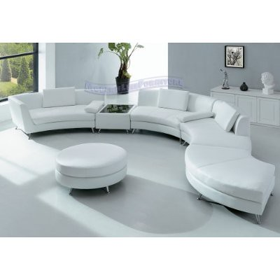 Modern Sectional Sofa – Modern Furniture in White – Modern