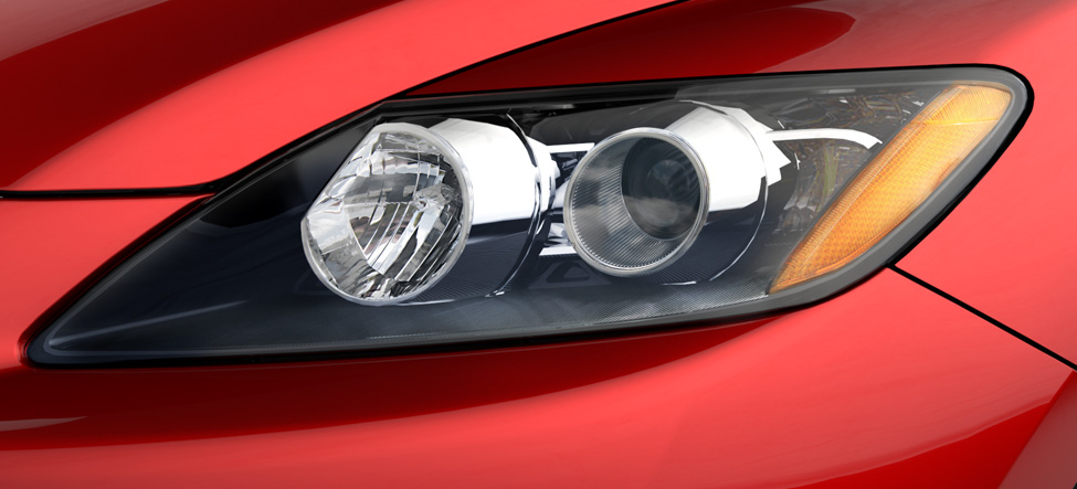 low-beam headlights Mazda CX-7