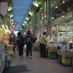 Mikawashima - Minowabashi 14 (haribote) Tags: street japan geotagged tokyo cityscape bronica fujifilm sq minowabashi arakawaku zenzabronica pn400n pro400 zenzanon s80mmf28 geo:lat=35732681 geo:lon=139791709