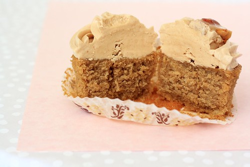 Coconut Coffee Cupcake with Peanut Butter Buttercream (Cupcake Hero::November)