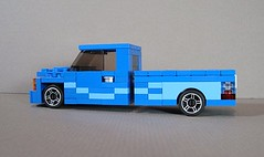 Chevy Lowrider (Ricecracker.) Tags: chevrolet up truck lego fig five low wide pickup mini chevy figure minifig tuner pick mad rider lowrider ralph lugnuts minifigure physicist moc minifigscale