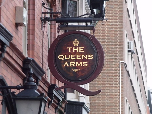 The Queens Arms - public house - Newhall Street, Birmingham - pub sign