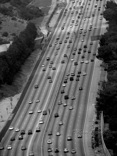 10 Lanes Freeway @ Los Angeles