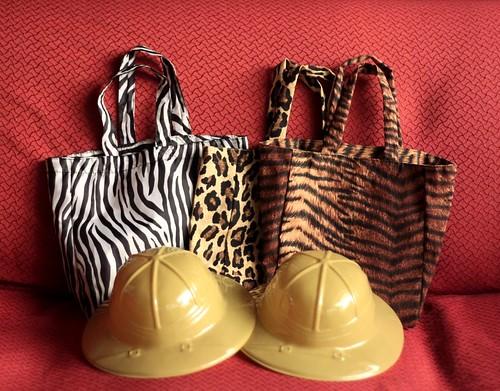 loot bags and safari hats
