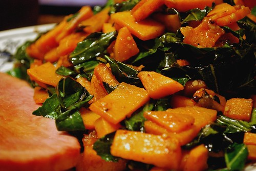 Collards and Sweet Potatoes