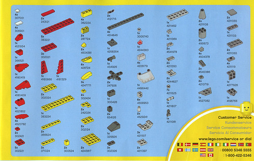 2010 LEGO - Creator 5866 Rotor Rescue Parts List