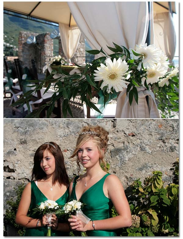 Wedding ceremony at Malcesine's Castle