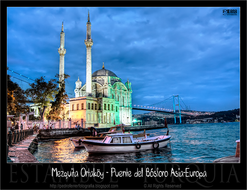 Ortaköy Mosque at night