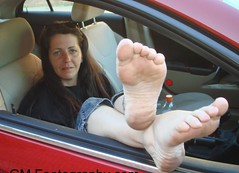 Barefeet in the passenger seat (RoughToughSoleMan) Tags: girls woman cars car female fetish foot high women toes bare dry arches heels rough tough soles cracked stomping trampling arched calloused