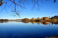 Bleus... Bleus... (Diegojack) Tags: lac reflets paysages