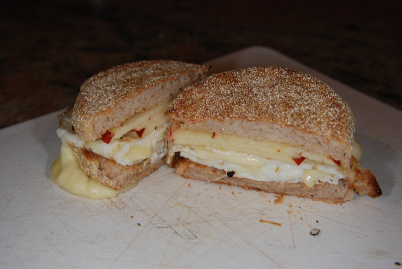 egg white/brie/honey crisp apple breakfast sandwich
