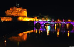Events of light (Capitan Mirino ( il Tartarughino )) Tags: bridge italy roma castle reflections river lights nightshot fiume ponte pontesangelo castelsangelo luci riflessi castello lazio notturno nocturn passionphotography yourcountry