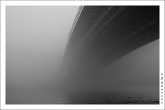under the bridge // a hd alatt (daureee) Tags: blackwhite foggy kd fekete fehr whitebridge nikond60 dauree