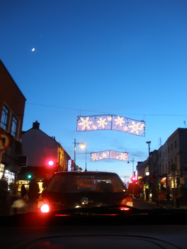 Christmas lights in Bray