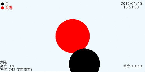 糸魚川の部分日食