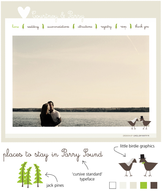 Courtney & Parry's wedding website