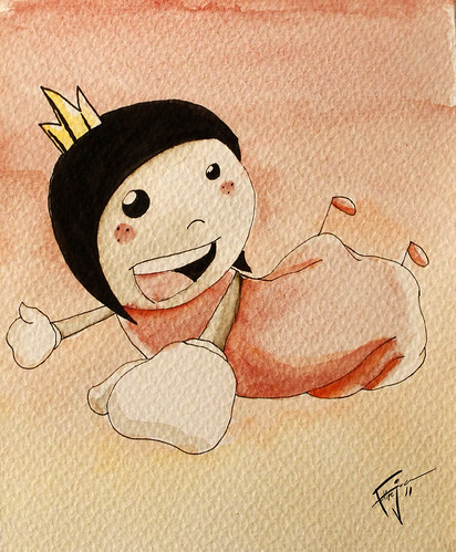 La pequeña Princesa by fjcilustrador