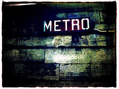 Metro (Gladly Beyond) Tags: paris france texture metro grunge lumiere concorde camerabag iphone iphone4 iphoneography irisphotosuite