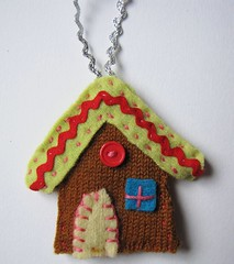 gingerbread house xmas ornament kit - finished product 1 (sister outlaws) Tags: xmas ornament kit gingerbreadhouse