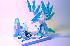 Ice-Water Golem (Siercon and Coral) Tags: castle ice water lego wizard dolphin magic battle medieval fantasy duel knight mage golem