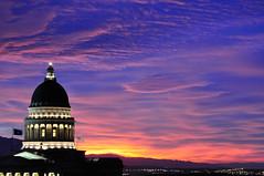 State Capitol Building, Salt Lake City, Utah (B.Austin) Tags: sunset utah ut saltlakecity saltlake greatsaltlake slc