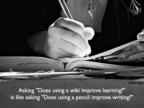Does using a wiki improve learning?