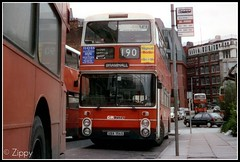 Victoria Standards (Zippy's Revenge) Tags: orange bus station manchester transport victoria railwaystation standard 190 leyland railstation bramhall greatermanchester atlantean 4156 8156 gmbuses northerncounties ncme an68 vba156s