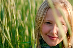. (nosha) Tags: portrait usa green nature beautiful beauty smile field yellow hair 50mm newjersey nikon bokeh outdoor farm grain may nj mercer headshots 2009 mercercounty lightroom 50mmf18 d300 f20 blackmagic cqw nosha 0ev 12000sec centerweightedaverage nikond300 may2009 dl20090601 12000secatf20