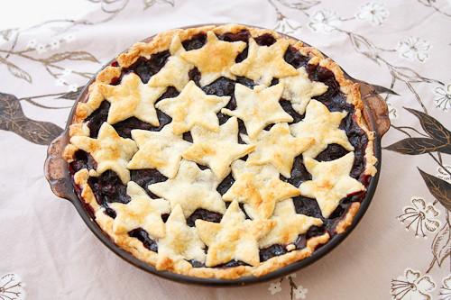 Patriotic Blueberry Pie