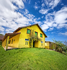 Yellow House in Little Planet (Omar Junior) Tags: wood light panorama house fish luz rio yellow vertical square geotagged grande casa high exterior dynamic little pentax portoalegre fisheye tur belem porto panoramica planet imaging alegre mapping range poa caminhos rs madeira tone riograndedosul hdr velho sul hdri mapped amarela rgs cambar rurais galpo highdynamicrangeimaging 1728mm pentaxffisheye135451728mm vertorama cambartur geo:lat=30203027 geo:lon=51084377