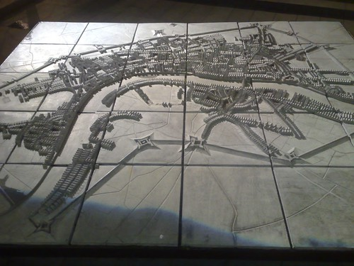 Relief map of old London