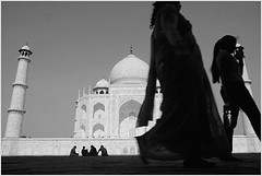beauty - now 'n then, agra (nevil zaveri) Tags: people blackandwhite bw india heritage monochrome up silhouette architecture photography blog photographer photos towers stock silhouettes taj mahal tajmahal agra images photographs photograph zaveri silhoutte wonders stockimages pradesh travelogue uttar nevil uttarpradesh peopleandplaces minars monghul nevilzaveri