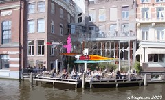 Pink Bunny Assassin Fighting Crime in Amsterdam (AJVaughn.com) Tags: pink woman holland bunny netherlands amsterdam robot gun toilet prostitute human crime laser hoover smuggler assassin smuggling