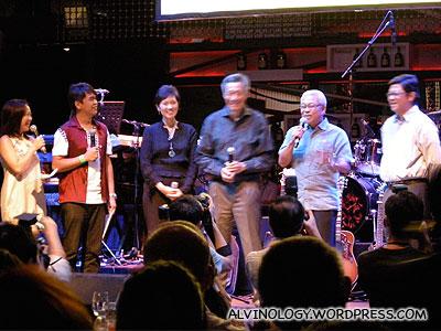 PM Lee arrived on stage, smiling