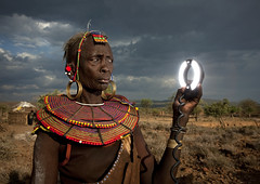 1..2..3! Pokot and flash - Kenya (Eric Lafforgue) Tags: africa portrait people face fun funny kenya african flash culture tribal explore human tribes afrika remote tradition tribe