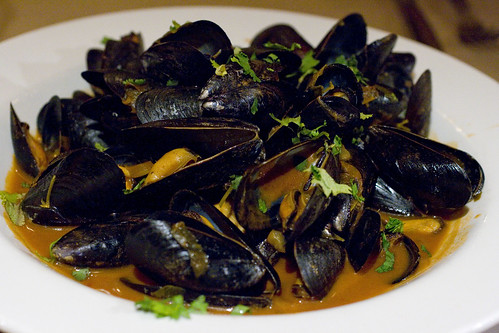 Mussels Moroccan style
