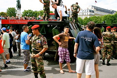 BASTILLE DAY, PARIS, 12 JULY 2009 (louisbickett) Tags: paris france lexington ky streetphotography sailors soldiers marines helicopters tanks bastilleday archivelouiszoellarbickettii louiszoellarbickettii