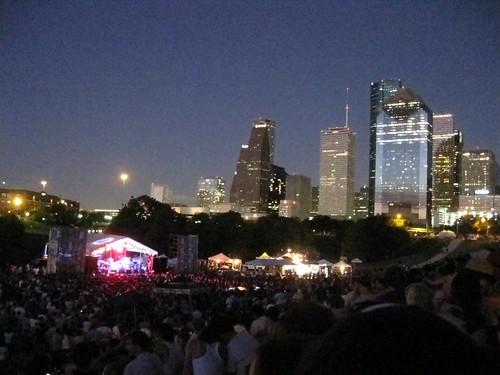 Summerfest & downtown skyline at night
