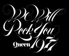 Queen - We Will Rock You (daylight444) Tags: original typography script fonts typeface lubalin carnase
