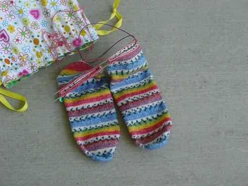 Toe Up Opal Socks