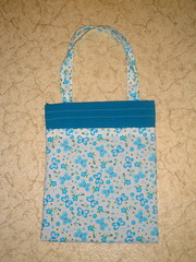 Butterfly/teal tote