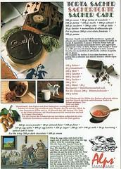 taken torta sacher (*eliblu*) Tags: italy italia postcard postcrossing recipes dolomites dolomiti ricette